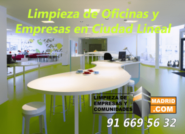Empresa de Limpieza de Oficinas en Ciudad Lineal