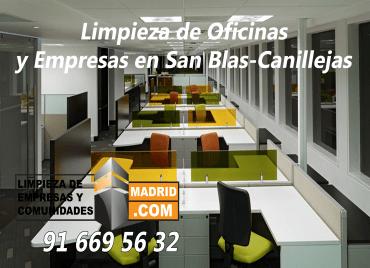Empresa de Limpieza de Oficinas en San Blas-Canillejas