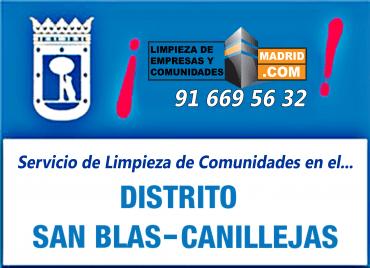 Empresa de Limpieza de Comunidades en San Blas-Canillejas