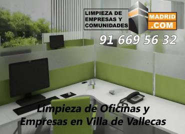 Empresa de Limpieza de Oficinas en Villa de Vallecas
