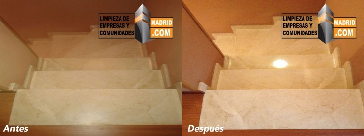 Pulido de Escaleras de Marmol